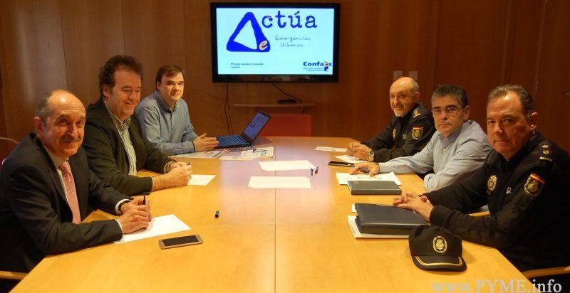 CONFAES presenta al Comisario Provincial de Salamanca el Plan Actúa de Emergencias Urbanas